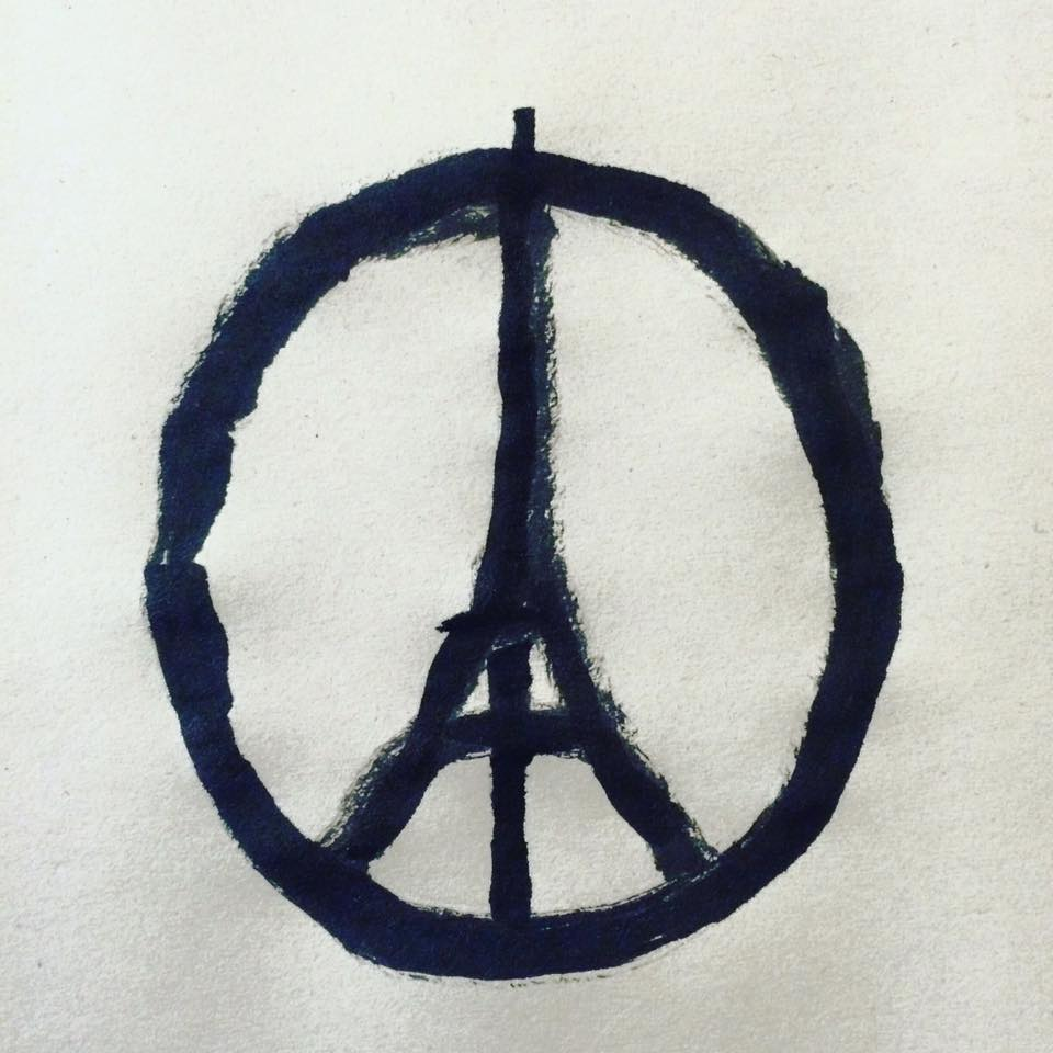 Jean Jullien, Peace for Paris.jpg