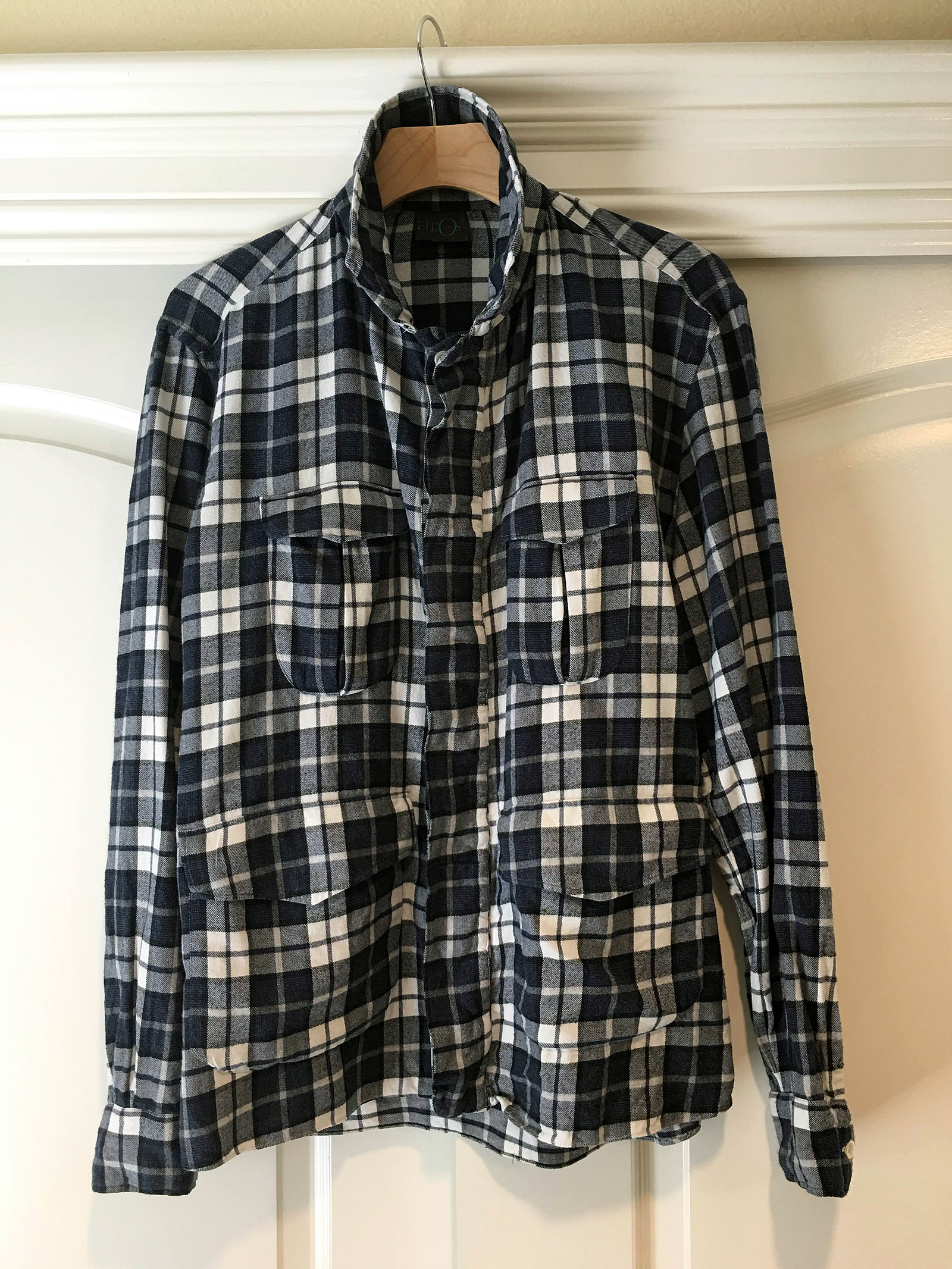 soaped's photos in Eidos Napoli Gelasio Shirt Jacket Plaid Cotton Flannel Size 38
