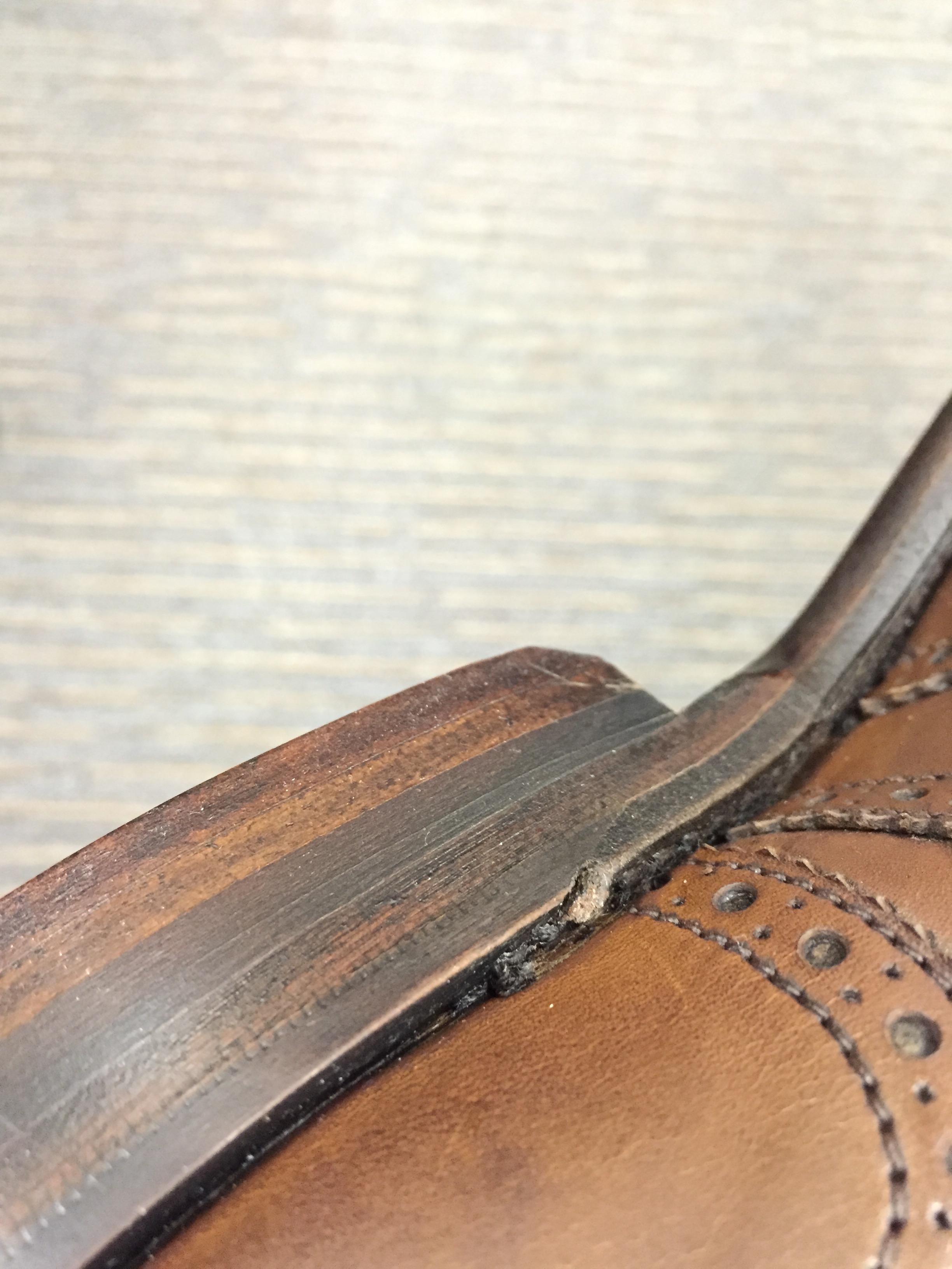 Is untidy welt finish on Loake 1880 shoes normal?