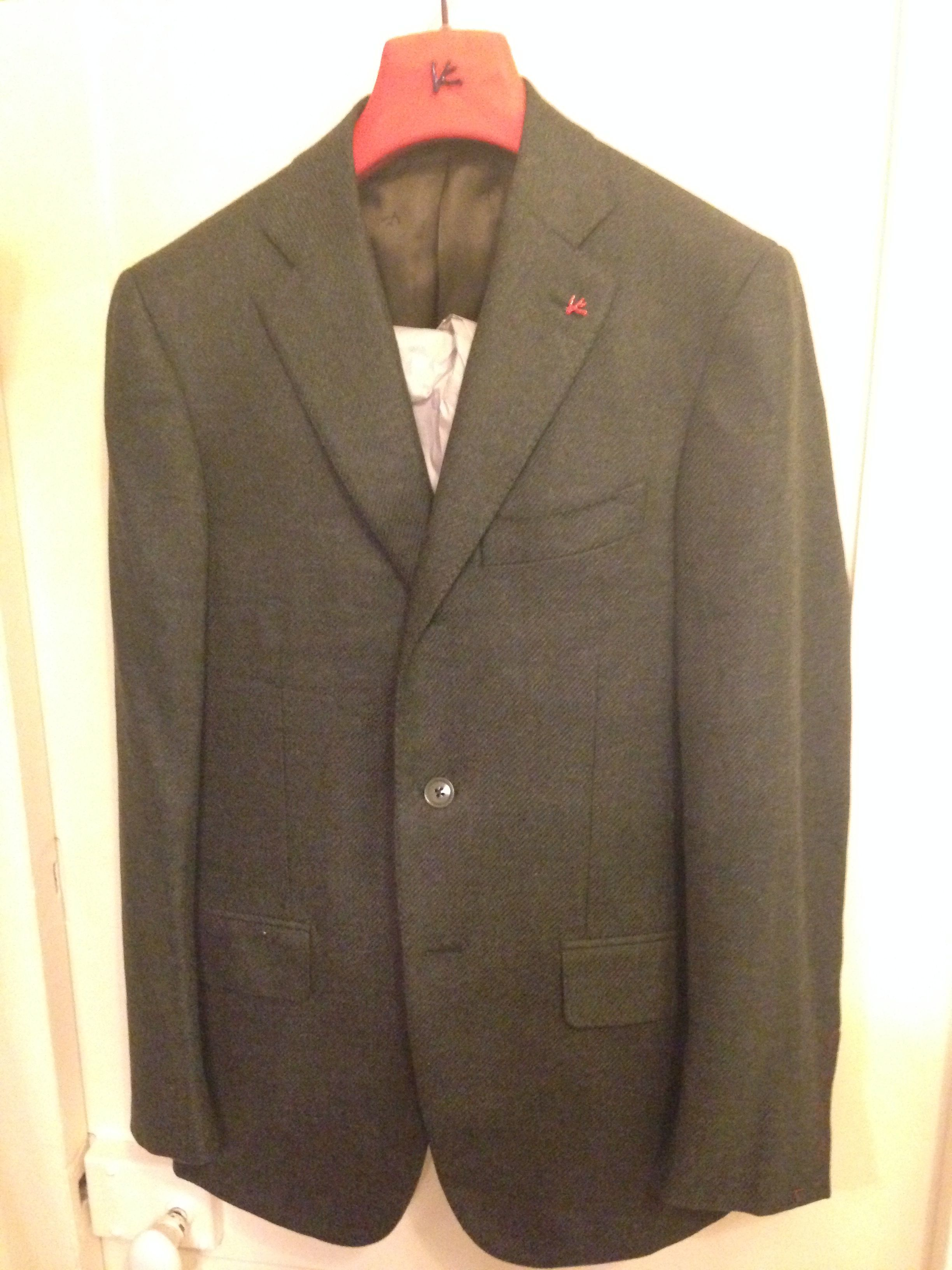 ISAIA BNWT Green 46IT(36US) Wool/Cashmere Sportcoat