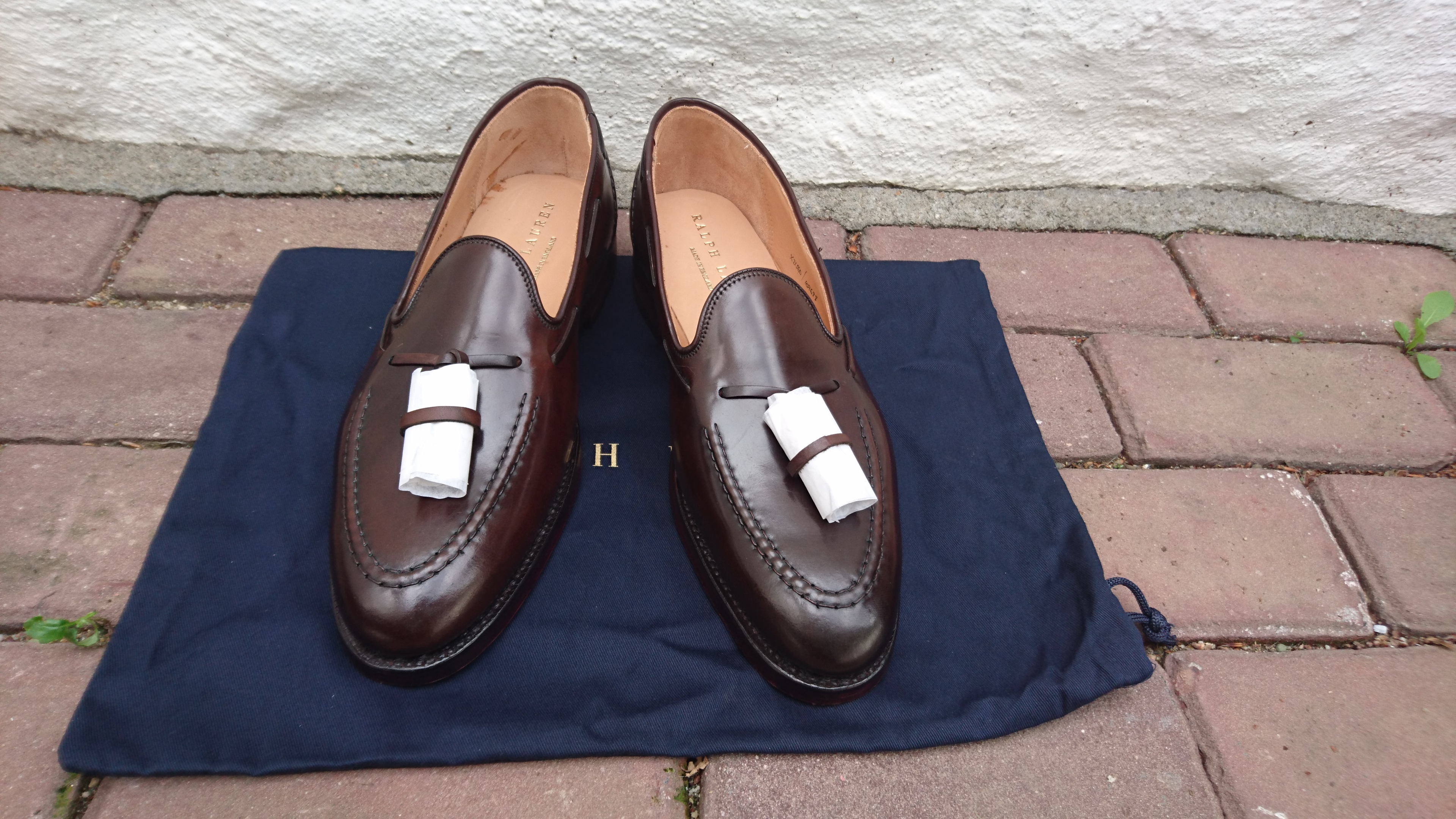dijor's photos in New RARE Crockett Jones Ralph Lauren Cordovan Crup Tassel Loafer $995 8 9 10 11