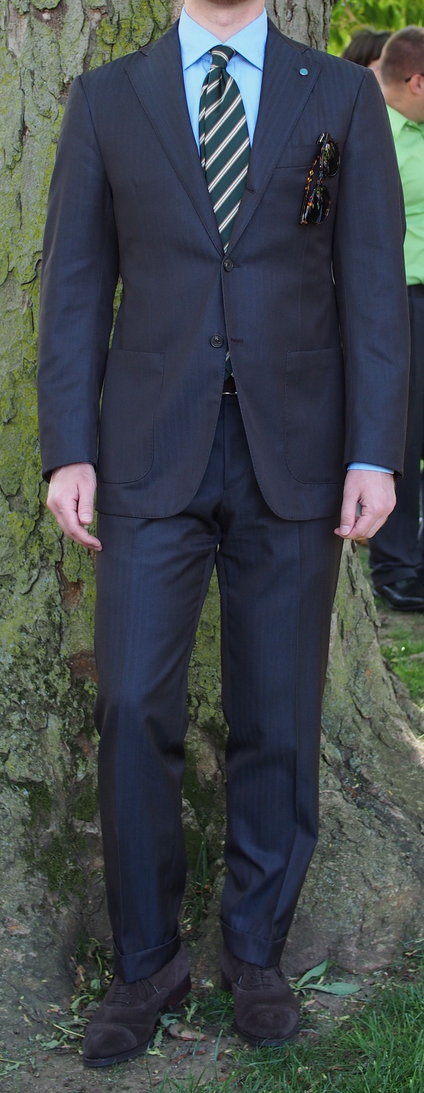 heldentenor's photos in Eidos Brown Solaro Wool Suit -- IT48/US 38
