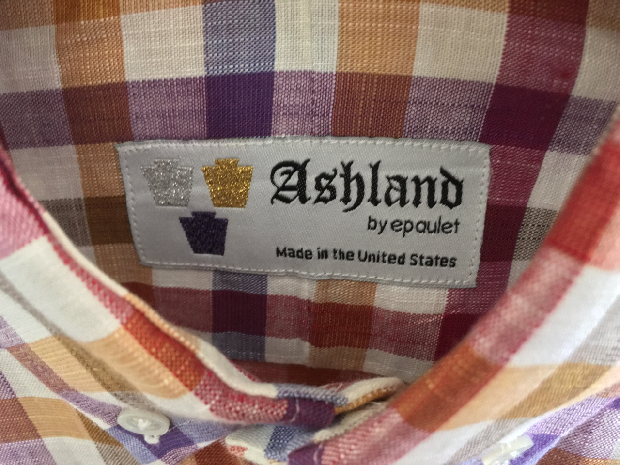 "applky's photos in Gitman x Epaulet (""Ashland"") tricolor cotton-linen shirt S, fits M"