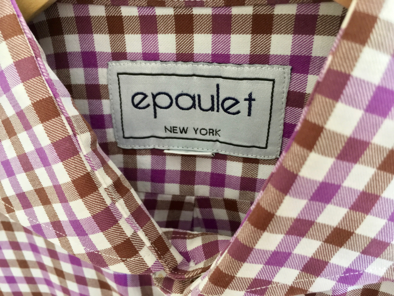 applky's photos in Epaulet x New England Shirting Company bicolor gingham shirt 15.5x33 (S-M)