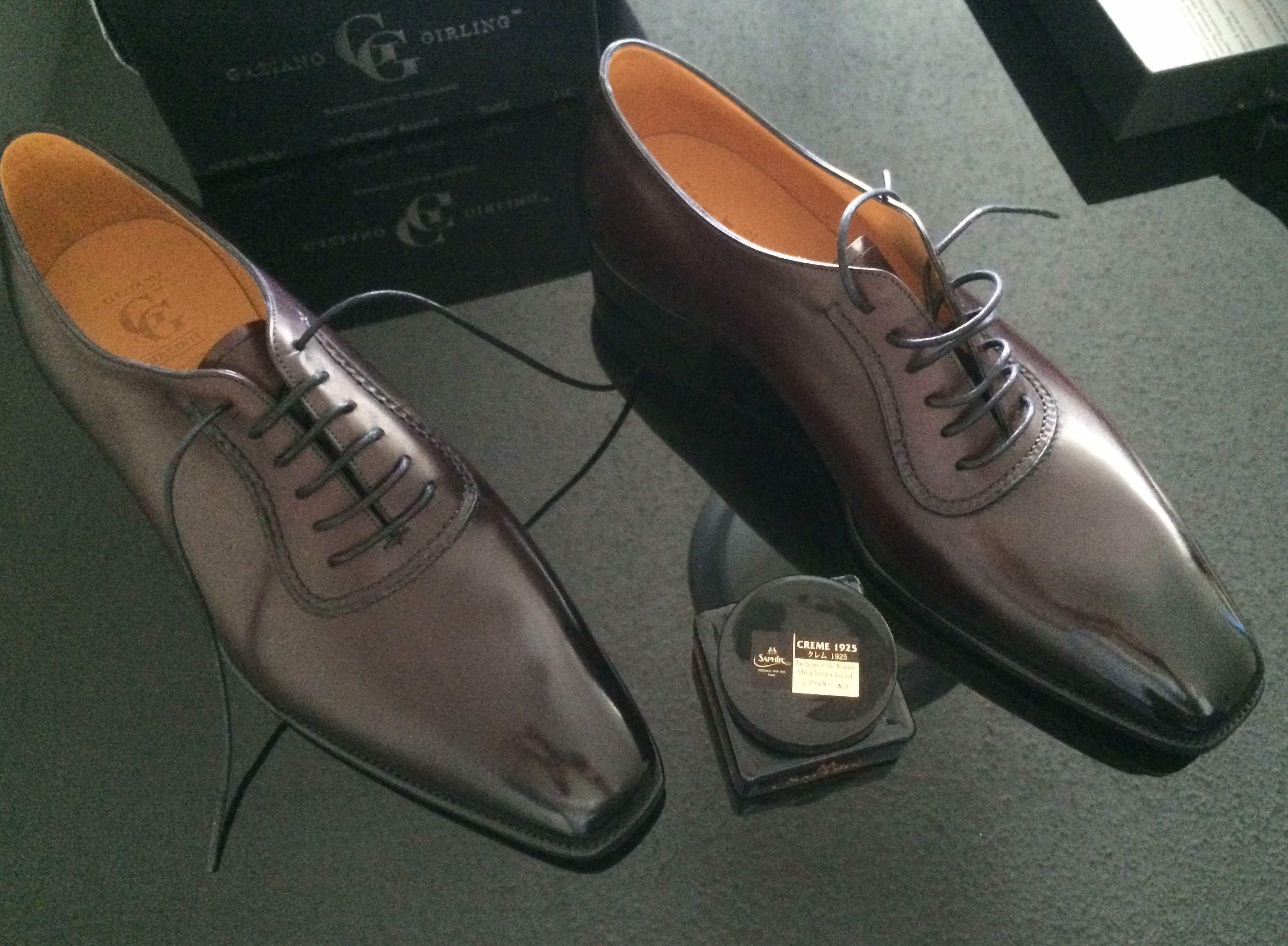 GG Westbury - with Saphir Navy cream