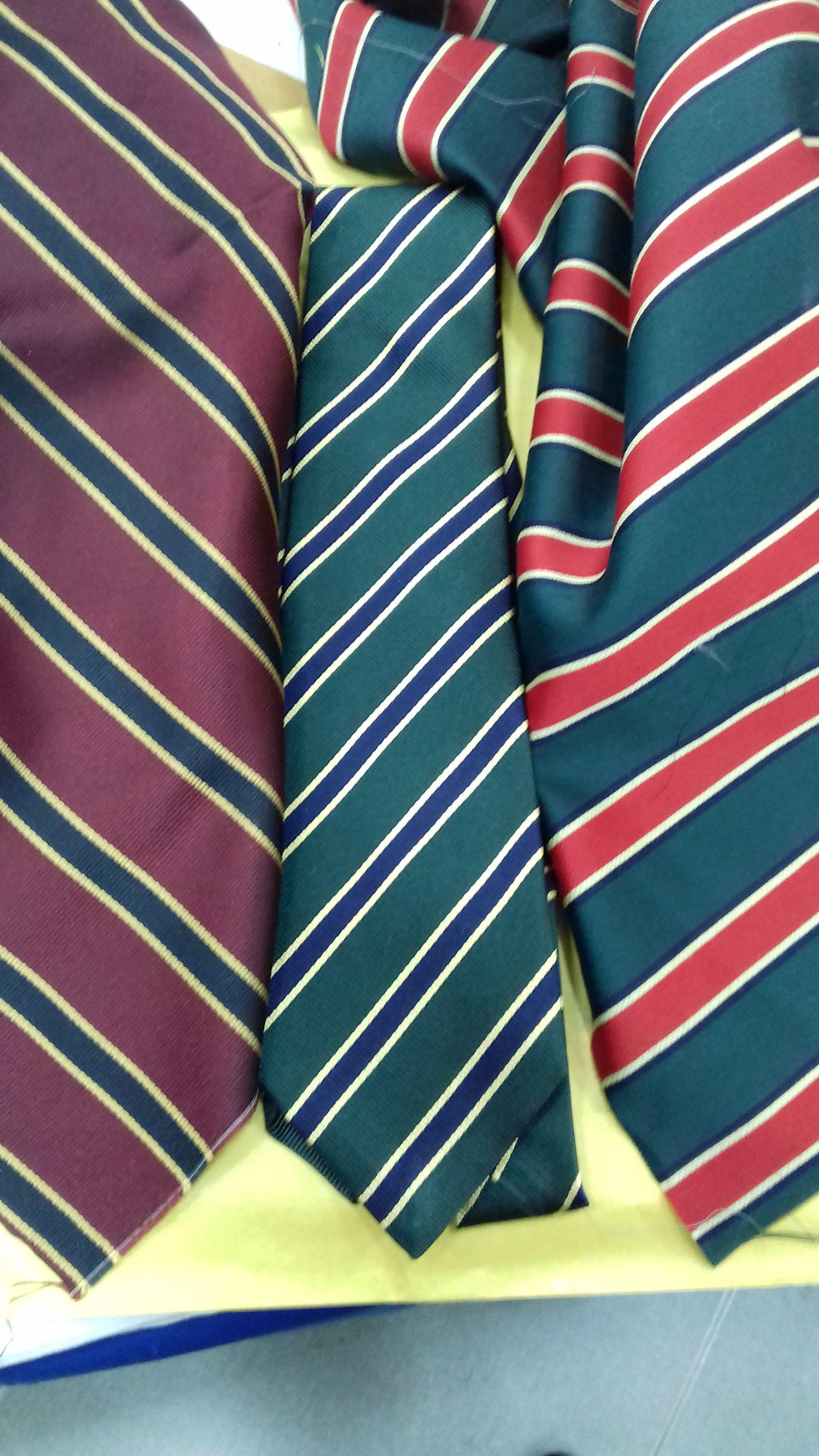 Three-color striped ties