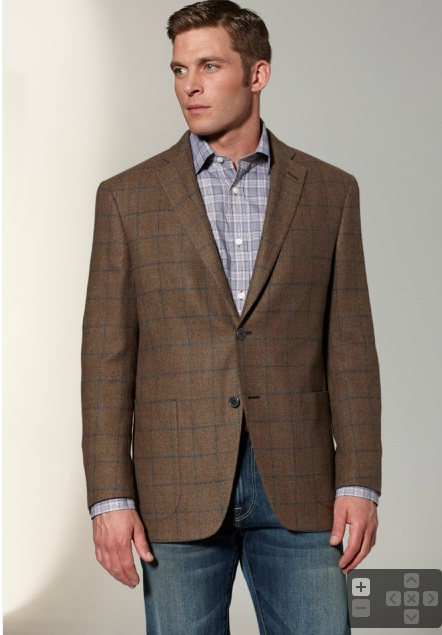brown windopane sport coat with jeans?