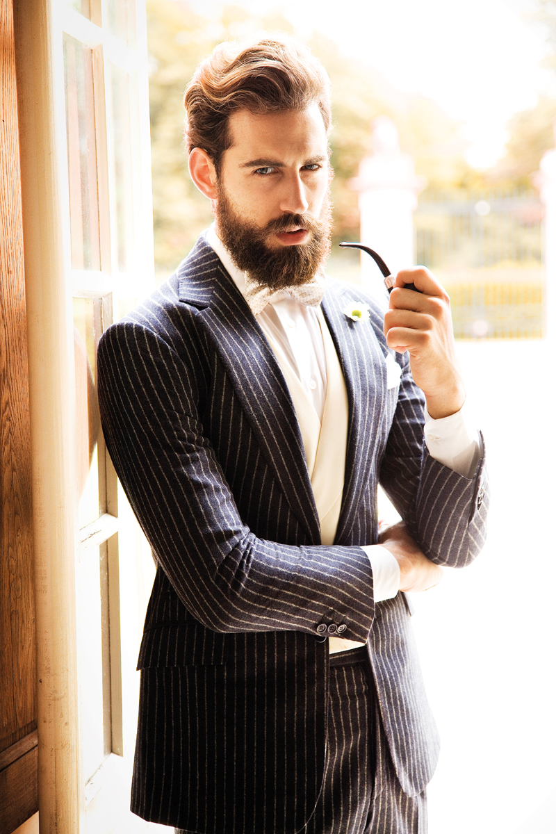 Astounding Pulling Off That Suit With Long Hair And A Beard Short Hairstyles Gunalazisus