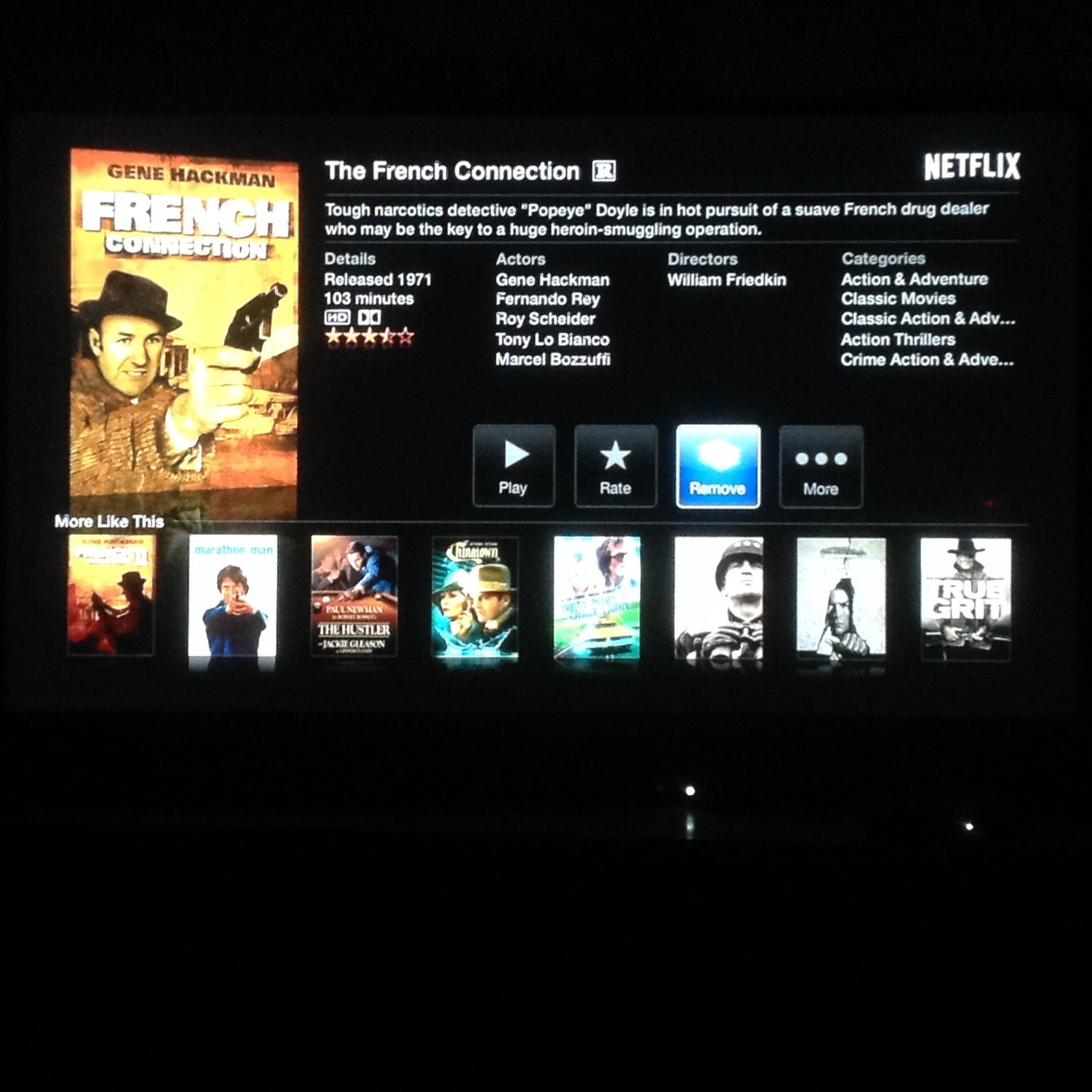 Hayward's photos in Netflix instant movie suggestions